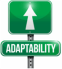 Adaptability signpost illustration design over a white background